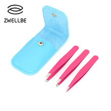Eyebrow-Tweezer-Set Face-Hair-Removal Make-Up-Tools Stainless-Steel Zwellbe for 3pcs