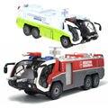 Сплав Инженерной модели Автомобиля детский игрушечный автомобиль 1:50 пожарной аварийно-спасательной аэродром водометы автоцистерны малыш игрушки