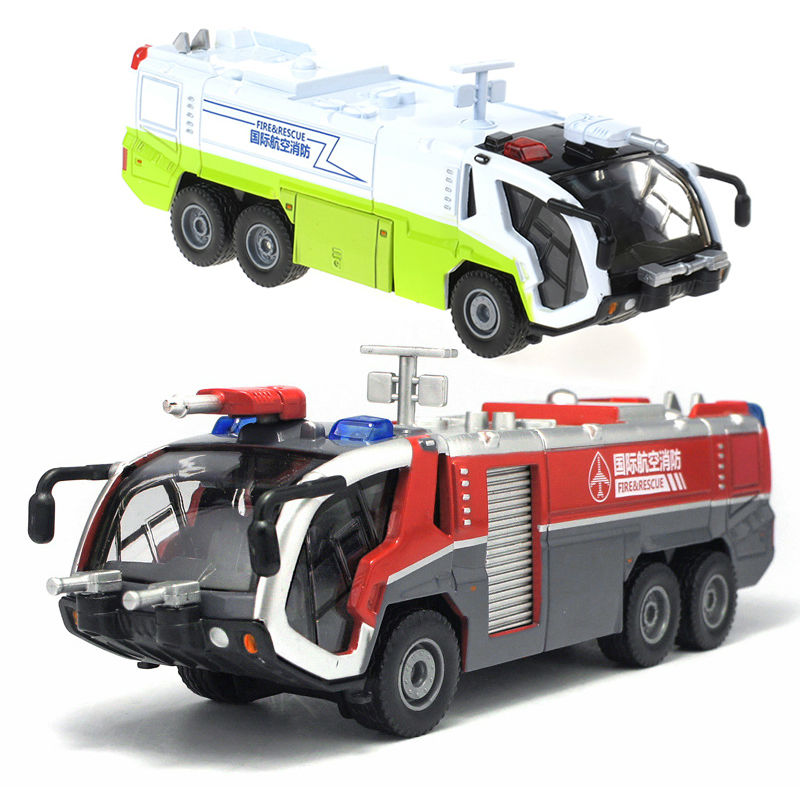 Alloy Engineering Vehicle model children toy car 1:50 fire rescue airfield water cannon tank truck kid toys