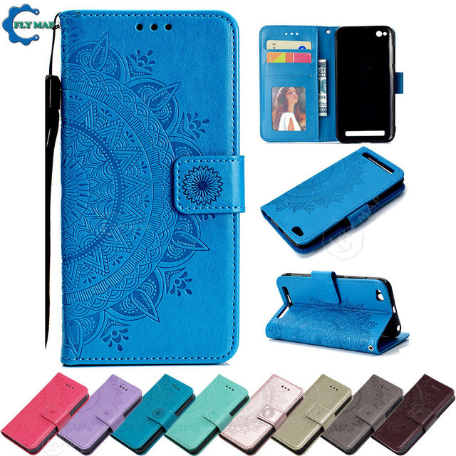 various colors 3bb02 29ea6 US $4.42 5% OFF|Flip Case for Xiaomi Redmi 5A 5 A Redmi5A Maya Floral Phone  Leather Cover for Xiaomi Redmi A5 Red mi 5A RedmiA5 Wallet Back Case-in ...