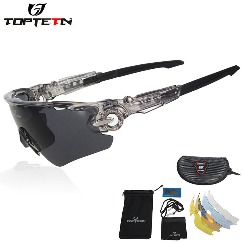 TOPTETN Optical Lenses Men Women Cycling Glasses Polarized Bike Prescription Eyewear Outdoor Sports Bicycle Sunglasses