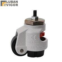 GD 40S/60 s/80 s, zware niveau aanpassing Foma caster/wiel, Met draad, altura ajustable, Industriële wielen