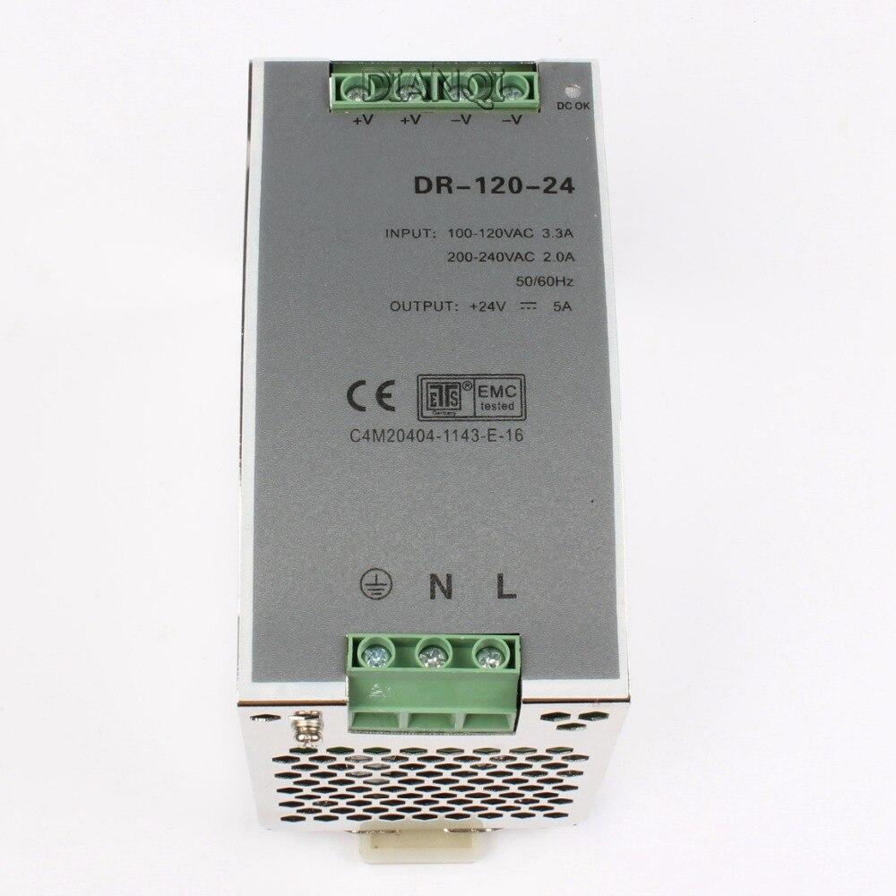 все цены на DIANQI Din rail power supply 120w 24V power suply 24v 120w ac dc converter dr-120-24 онлайн