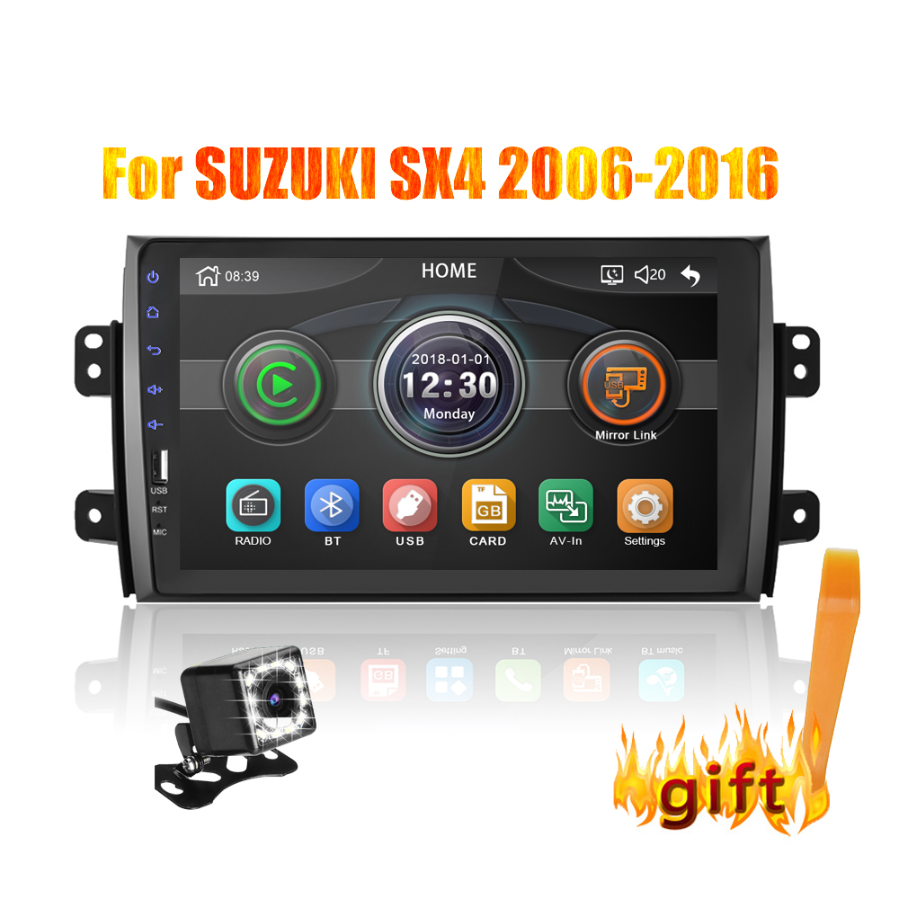 2din 9 inch Car Radio Mirrorlink <font><b>Android</b></font> Bluetooth Car Multimedia MP5 Player For <font><b>SUZUKI</b></font> <font><b>SX4</b></font> 2007 <font><b>2008</b></font> 2009 2010 2011 2013 image