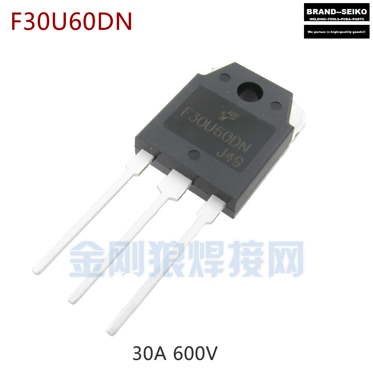 ФОТО 10PCS/LOT Inverter Welding Machine Commonly Used Components 30a 600v F30u60dn Fast Recovery Common Cathode Dual Diode