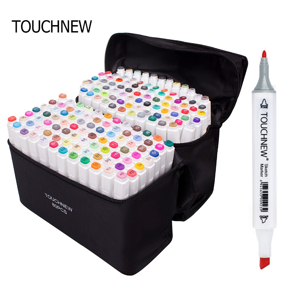 Markers TOUCHNEW Set 1 PCS Animation Sketch Marker Dual Tips Drawing Artist Brush Pens For School Supplies