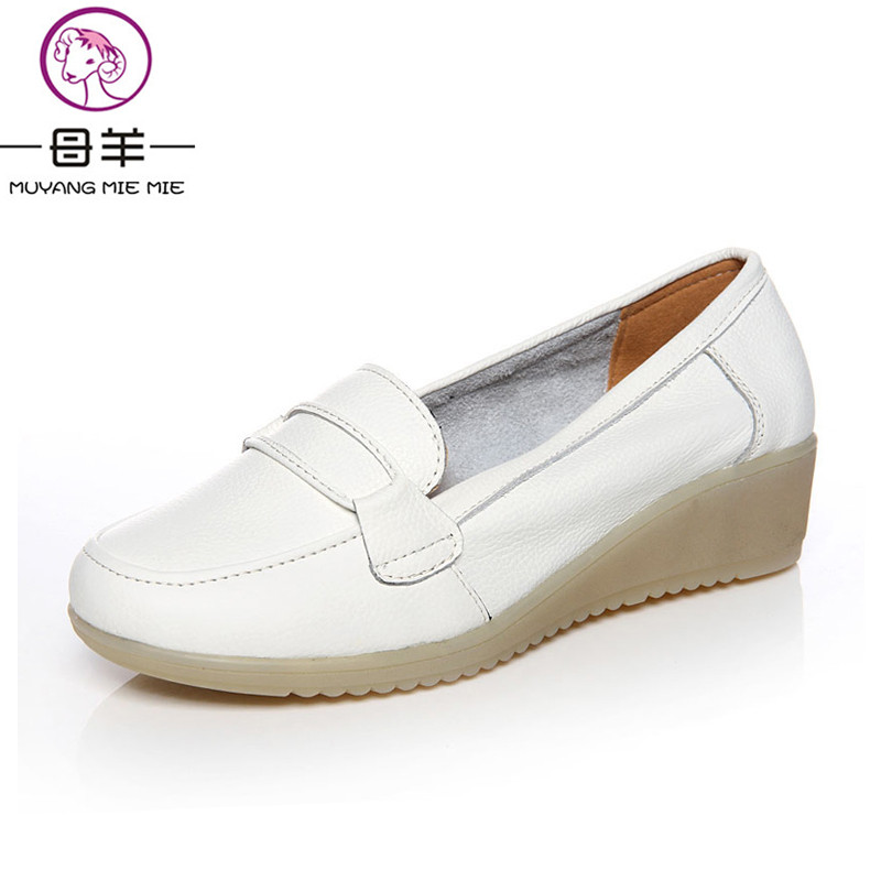 MUYANG MIE MIE Women shoes Woman white single shoes female nurse shoes woman genuine leather wedges shoes women pumps парогенератор mie bravissimo напольная вешалка mie a