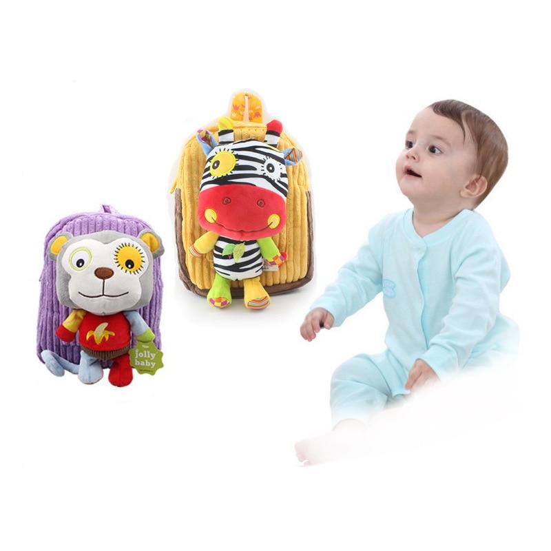 Children Backpack Cute Cartoon Animal Shoulder Bag Doll Kindergarten Baby 1-3 Years Old
