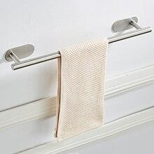 Настенная Полка для полотенец для ванной держатель Вешалка самоклеящийся подвесной рельс принадлежности для ванной комнаты органайзер для штанги