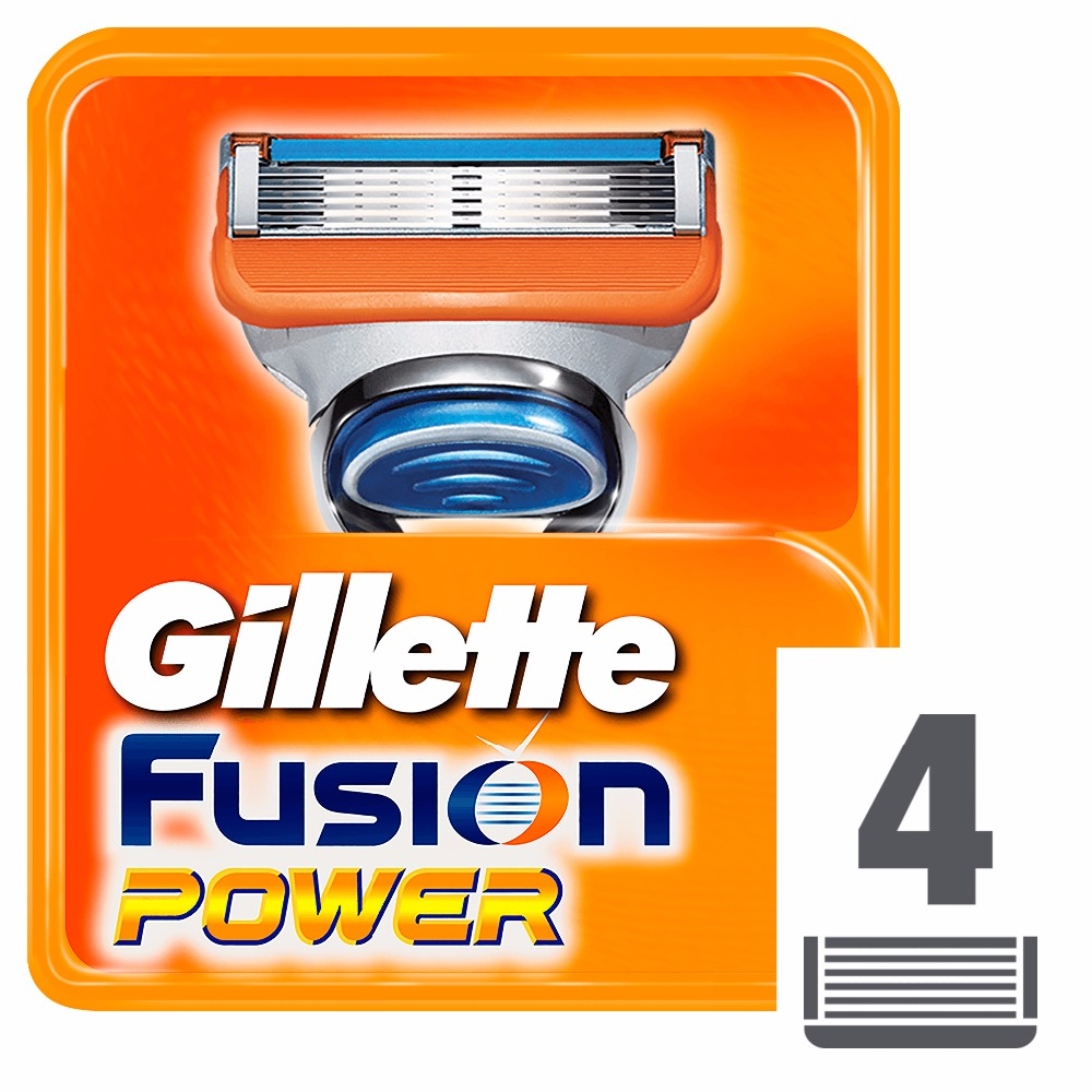 Replaceable Razor Blades for Men Gillette Fusion Power Blade shaving 4 pcs Cassettes Shaving  Fusion shaving cartridge Fusion