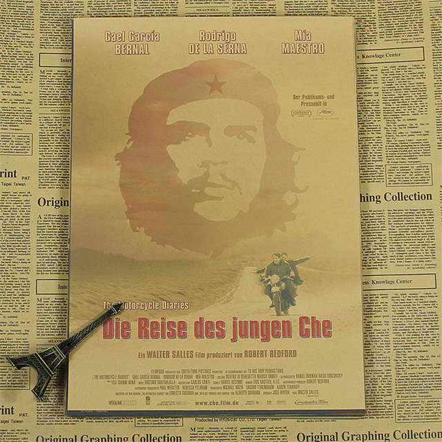 """""""High quality wall posters """""""" Che Guevara""""""""  kraft paper retro poster pictures for home decor house bar pub kir room HT-582"""""""