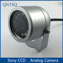 Sony CCD 700TVL kamery, KAMERA TELEWIZJI PRZEMYSŁOWEJ IR wodoodporna kamera metalowa pokrywa obudowy (mały). CY C1010A, z nakrętką zabezpieczającą
