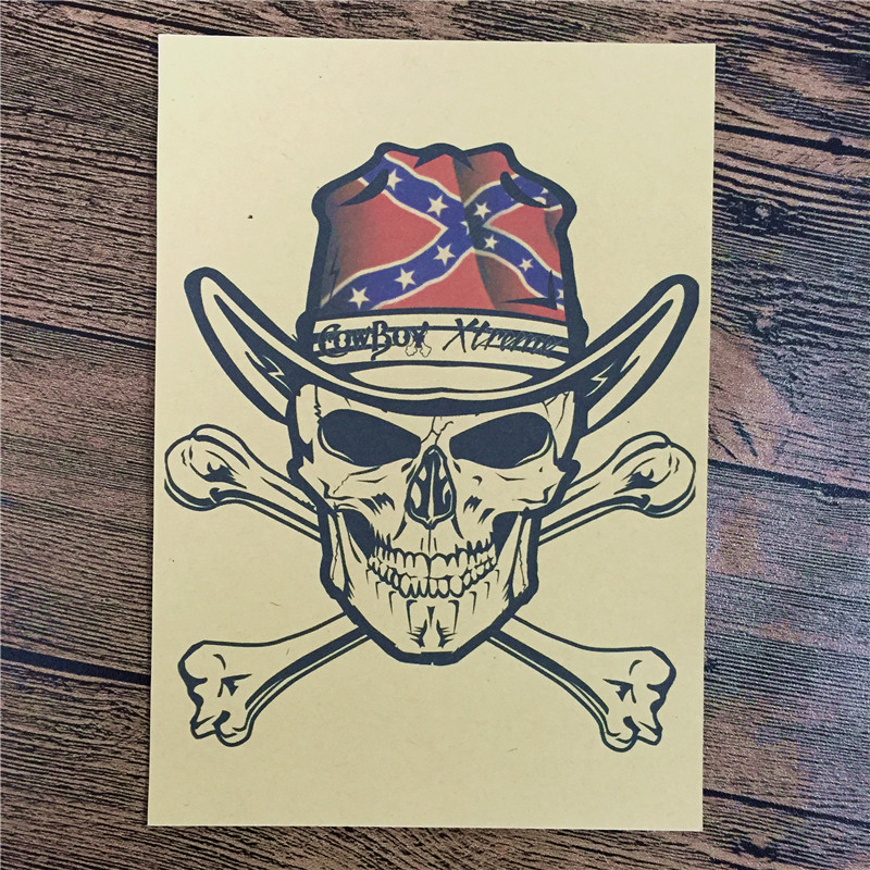 RMFC-071 Vintage home decor kraft paper Cowboy Pirates for kichen wall sticker movie poster bar cafe wall painting 42x30 cm image