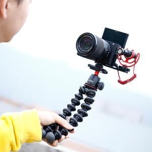 Image 2 - Ulanzi PT 5 Vlogging Mikrofon Halterung Ständer Verlängerung Bar Platte mit Kalten Shoe1/4  20 Stativ Loch für sony A6400 Video Vloggers