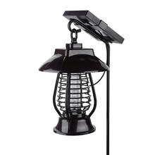 Solar Panel LED Mosquito Killer Lamp IP64 Waterproof Lamp Insect Killer Repellent for Garden Yard Pest Reject Trap