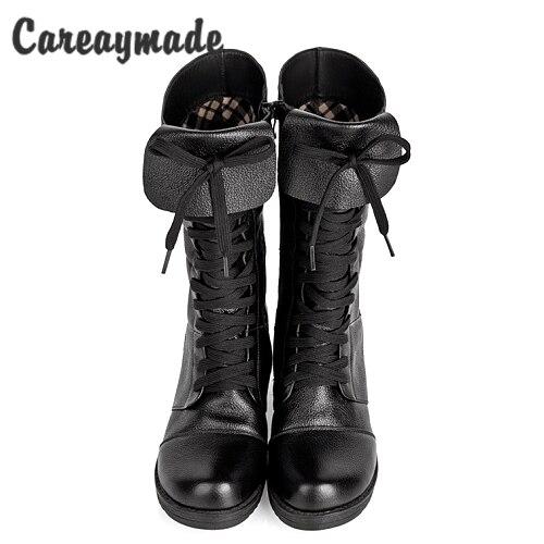 Careaymade-Baru gaya Inggris Kepala lapisan kulit sapi lady sepatu musim  gugur musim dingin wanita 3f0977fb76