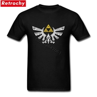 Retro Grunge Logo Mannen Tshirts Custom Streetwear De Legende van Zelda voor Man Nieuwe T-shirt Ontwerp Korte Mouw Vaderdag 3XL