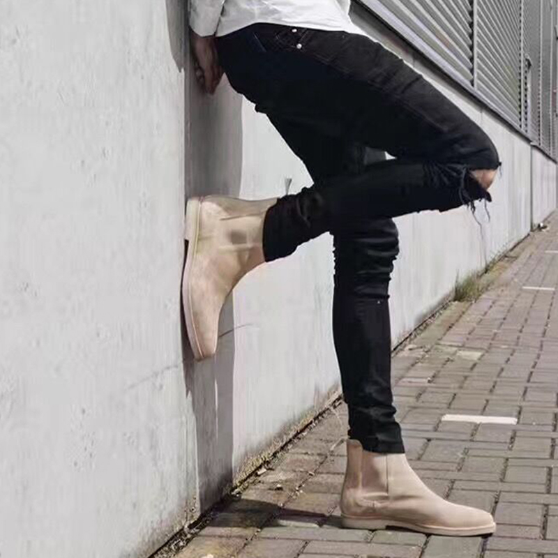 2017 High Quality New fashion hip hop Broken Jeans skinny distressed ripped jeans Casual Pants black