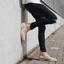 2017 Высокое Качество Новая мода hip hop Сломанные Джинсы тощий проблемные рваные джинсы Повседневные Брюки черный прохладный мужская городская одежда