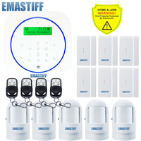 Free Shipping Super Thin GSM Alarm Systems Android APP Alarms Home Security System English Spanish Italian