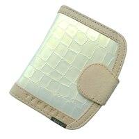 Carpeta corta de diseño de moda al por mayor de las mujeres del cuero Genuino clásico bolso de cocodrilo patrón de cartera femenina
