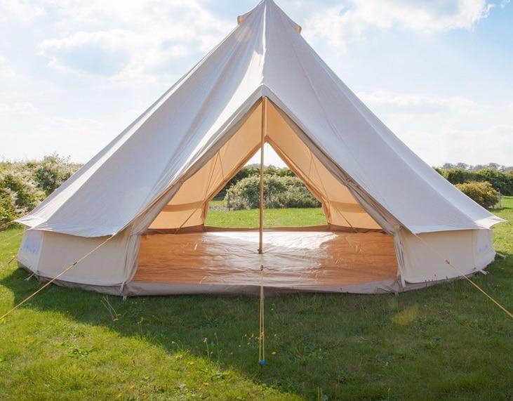 Бесплатная доставка 4 м двойной двери хлопковое полотно Белл палатка