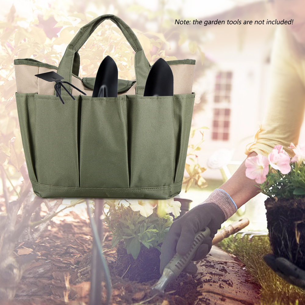 Image 5 - Garden Tool Bag Outdoor Tools Oxford Fabric Garden Square Box Type Bag for Gardening Tool Kit Outdoor Tools-in Outdoor Tools from Sports & Entertainment