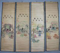 Exquisite Chinese Antique collection Imitation ancient Confucius Picture