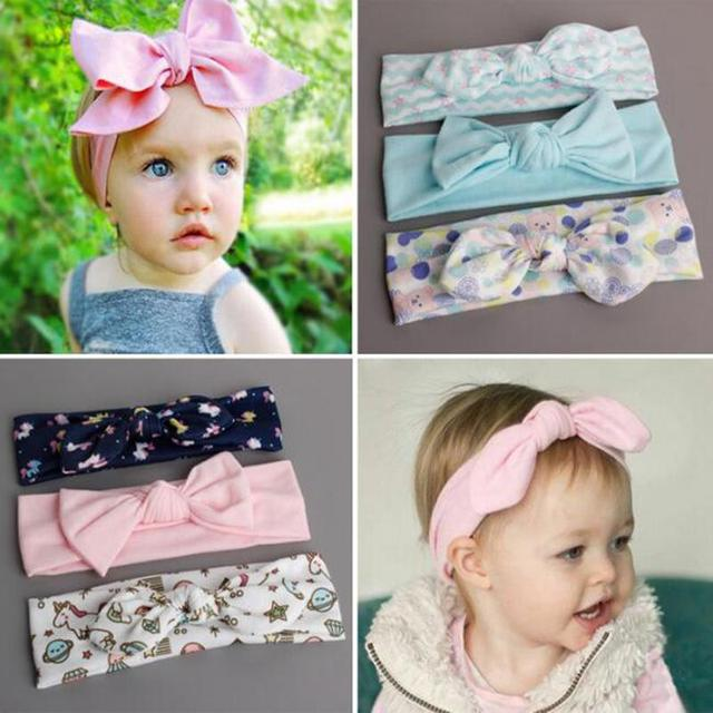 3Pcs Baby Head Hair Ornaments Children s Baby Bandana Headband Cotton  Rabbit Flowers Hair Band Kids Knot Bow Hair Accessories 63537b29fc5