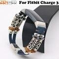 Ремешки для наручных часов для Fitbit Charge 3 сменные Ремешки для наручных часов индивидуальные регулируемые кожаные ремешки для Fitbit Charge 3 ремешк...