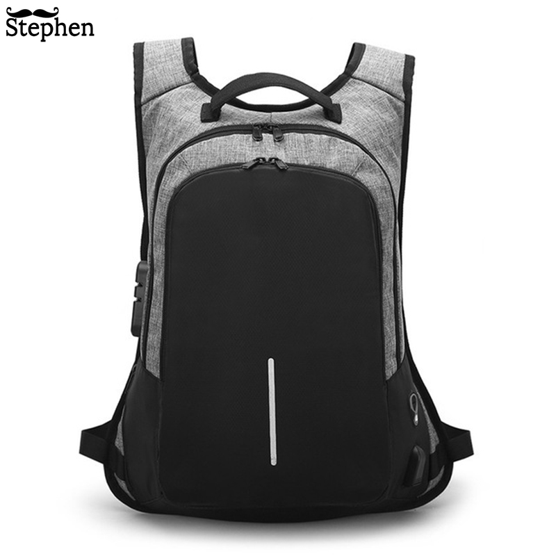 Backpacks Men Multifunction USB Charging 15.6inch Laptop Backpacks For Teenagers Fashion Male Mochila Travel Backpack Anti Thief