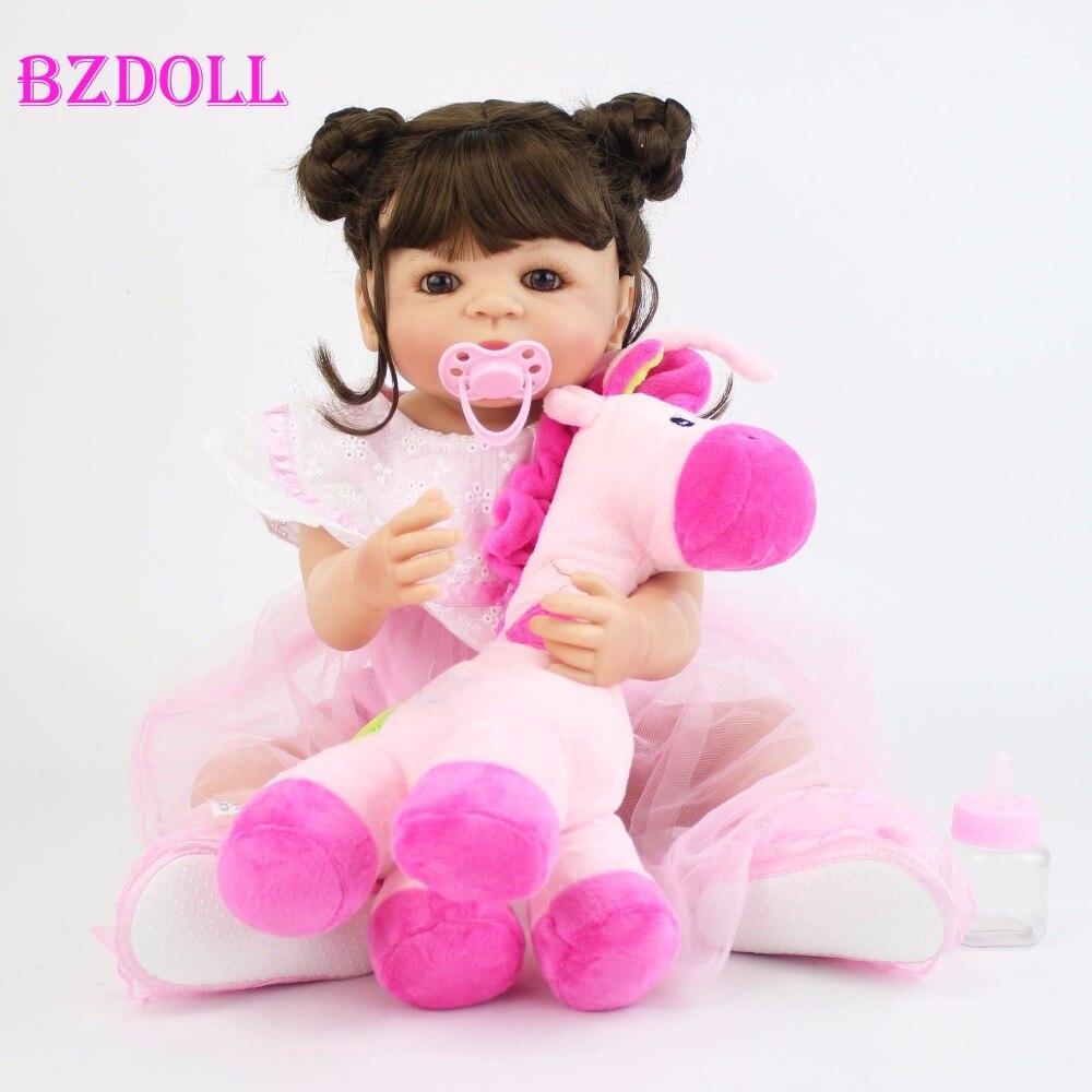 BZDOLL 55 cm de vinilo completo de silicona Reborn Baby Doll realista princesa niño niños crecimiento pareja chica Bonecas vivo Bebe regalo-in Muñecas from Juguetes y pasatiempos    1