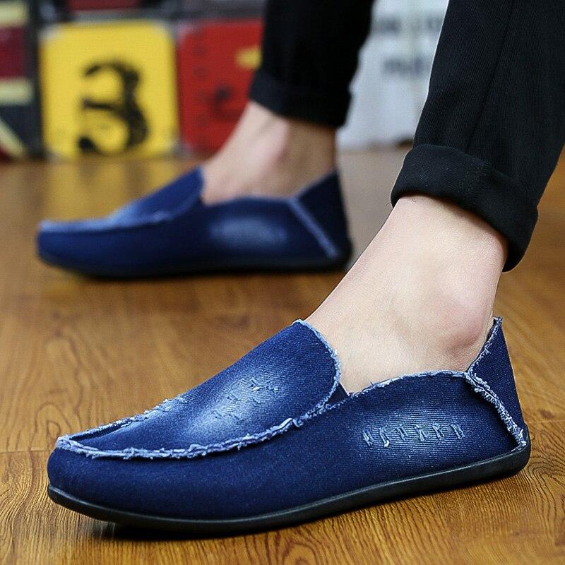 Nueva Primavera Verano 2017 Zapatos de Los Hombres de Moda Transpirable Denim de