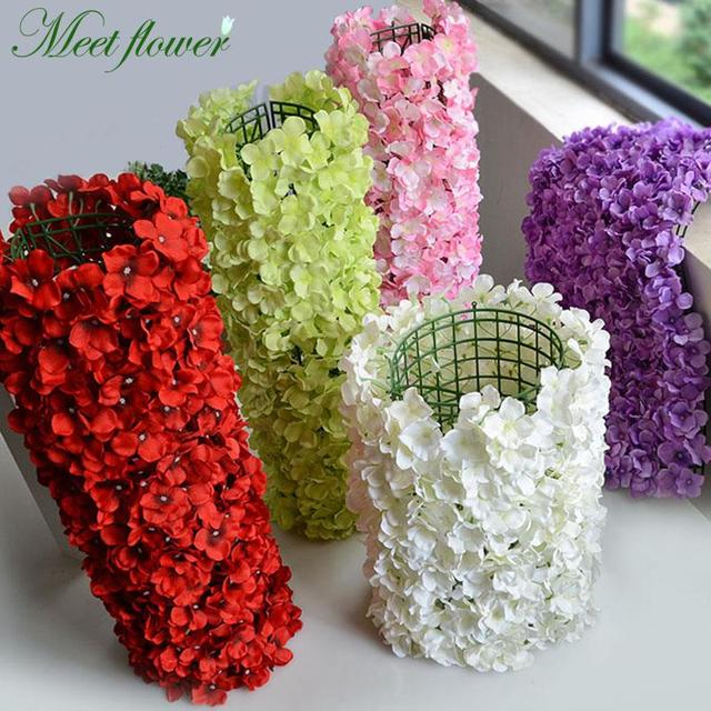 Artificial Flower Carpet Luxurious Hydrangea Diy Wedding Arrangement Setting Wall Road Led T Stage Photo Background