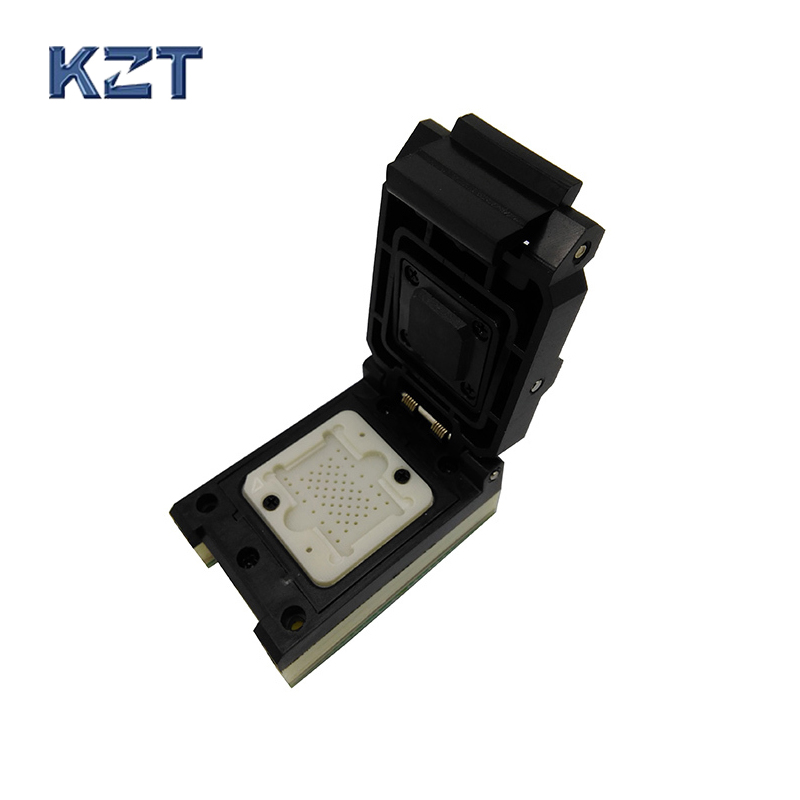 LGA60 OM DIP48 Pogo Pin Flash Programmeur Adapter IC Test Socket LGA60 Burn In Socket Clamshell Structuur Iphone NAND Programmeur
