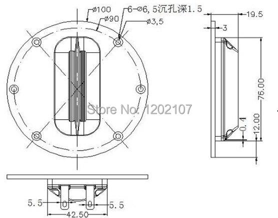 2 PCS lot Professional Planar Speaker A transducer HiFi AMT ribbon tweeter 8 Ohm 4