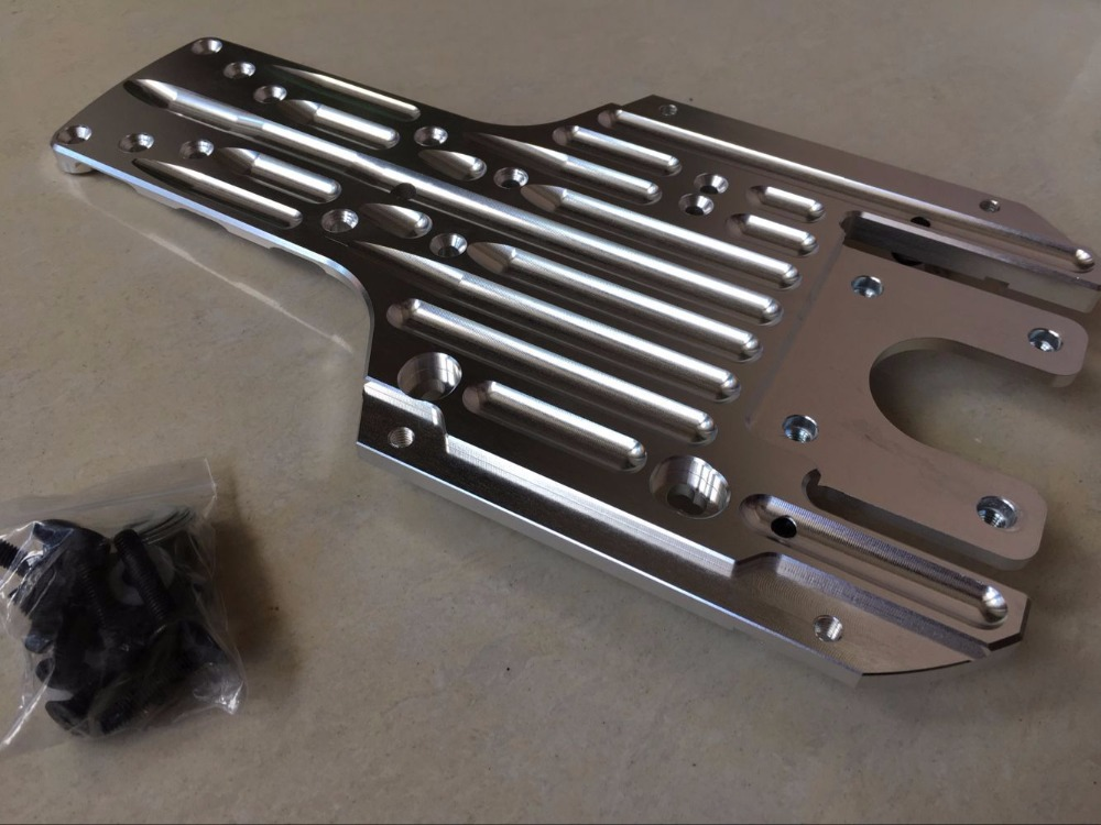 Baja CNC power under guard engine chassis protection for hpi baja 5b parts rovan km rc cars