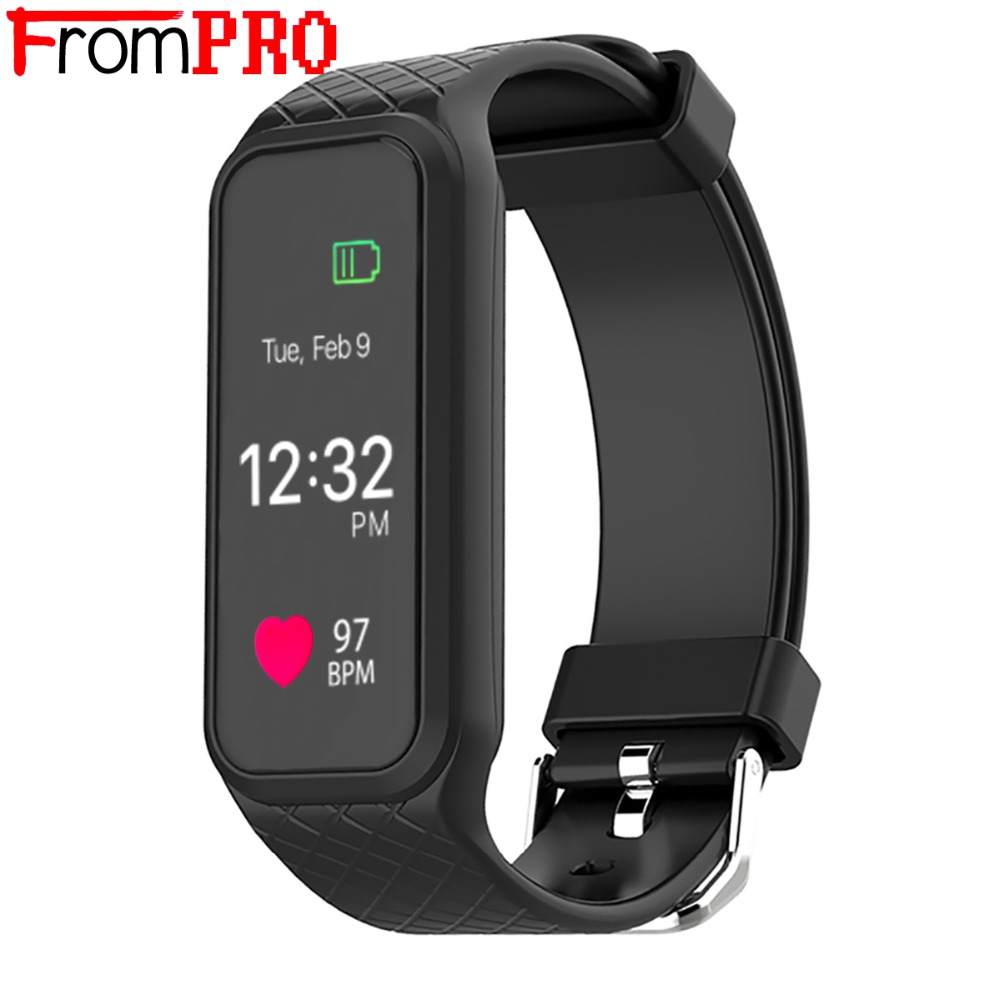 FROMPRO Smart Bracelet L38i with color screen Heart rate monitor Bluetooth Tracker Fitness Waterproof wristband For