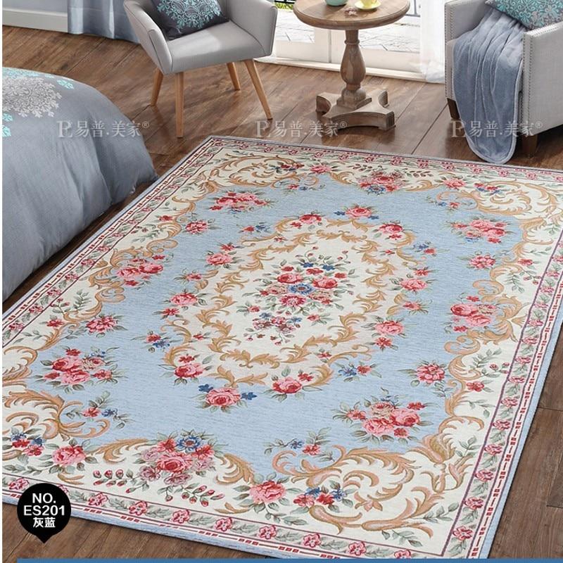 Blended carpet Mediterranean style blue carpet , living ...