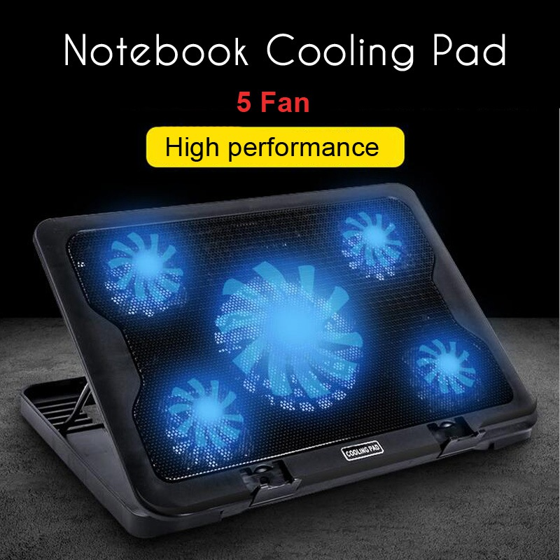 New Cooling Pad For 14-17inch Notebook 5 Cooler Fan Notebook Cooling Pad Computer Stand Laptop Cooler Super Silent With USB adjustable laptop cooler pad usb portable notebook cooler cooling pad for laptop notebook