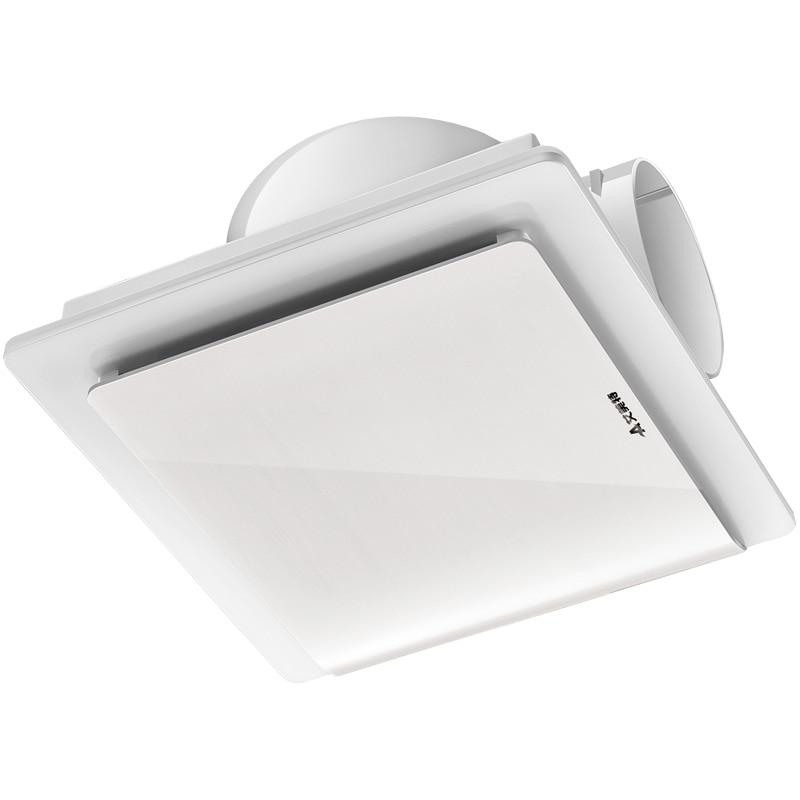тонкий вентилятор для ванной - living room bathroom exhaust fan household fan hanging ceiling type ultra-thin mute kitchen High speed blower remove TVOC HCHO