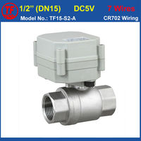 TF Valve TF15 S2 A Stainless Steel 1 2 Motorized Ball Valve DC5V 7 Wires DN15