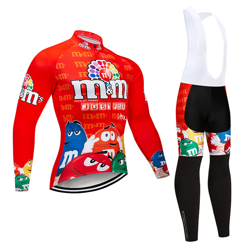 Crossrider 2019 Winter Cycling Jersey Set MTB Bike Clothing Ropa Maillot Ciclismo Men Funny Thermal Fleece