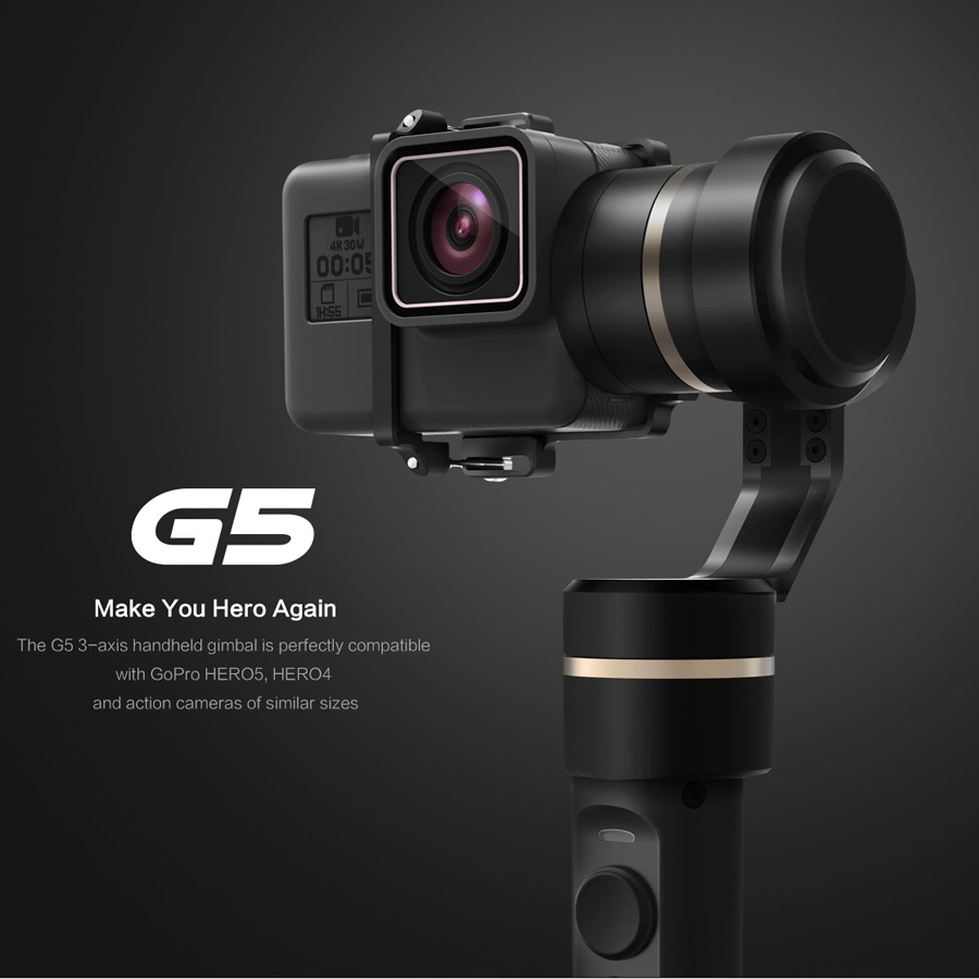 Feiyu FY-G5 Handheld gopro gimbal 3-Axis stabilizer steadicam for GoPro HERO5 4k SJ Action Camera weigh Splashproof Humanized feiyu g5 3 axis handheld gimbal for gopro hero5 5 4 xiaomi yi 4k sj aee action cams splashproof bluetooth enabled control