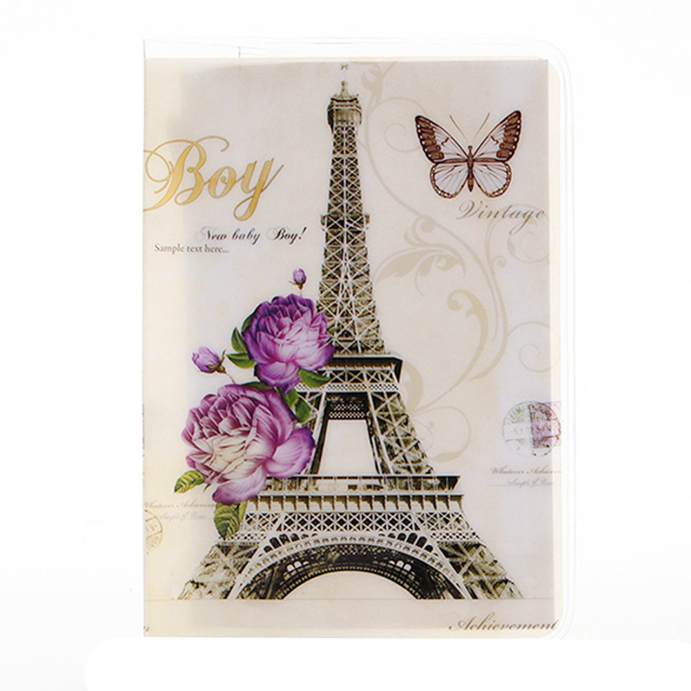 10 Styles Passport Cover Card ID Holders Women Men Travel PVC Document Folder Passport Package Eiffel Tower