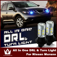Tcart 1Set Auto Led Bulbs Car DRL Daytime Running Lights Turn Signals All In One Lamps
