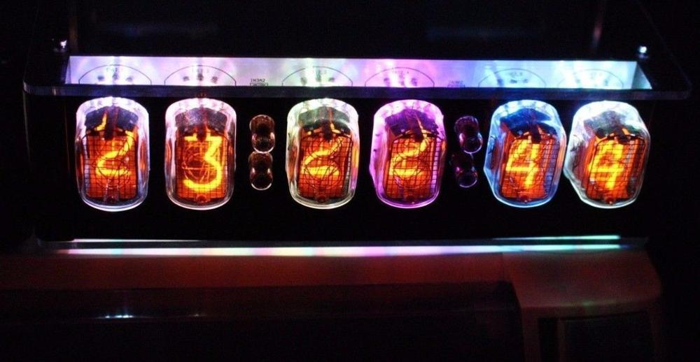 6 IN12 Bit Kit Time Electronic LED Luminous Glow Nixie Tube Clock Time Flies Lapse