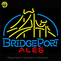 New Neon Sign Bridgeport Ales REAL Handcrafted Real Glass Lamp Bright Neon Light Sign Handmade Sign