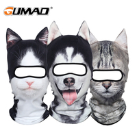 3D Animal Fleece Warm Balaclava Full Face Mask Winter Thermal Helmet Liner Ski Cycling Snowboard Bike Halloween Face Shield