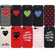 CDG Bermain Comme Des Garcons Assc Logo Merek Soft Case untuk Iphone 6 6 S Plus 7 7 Plus X XS Max XR 5 S Phone Cover Coque Shell Hull(China)